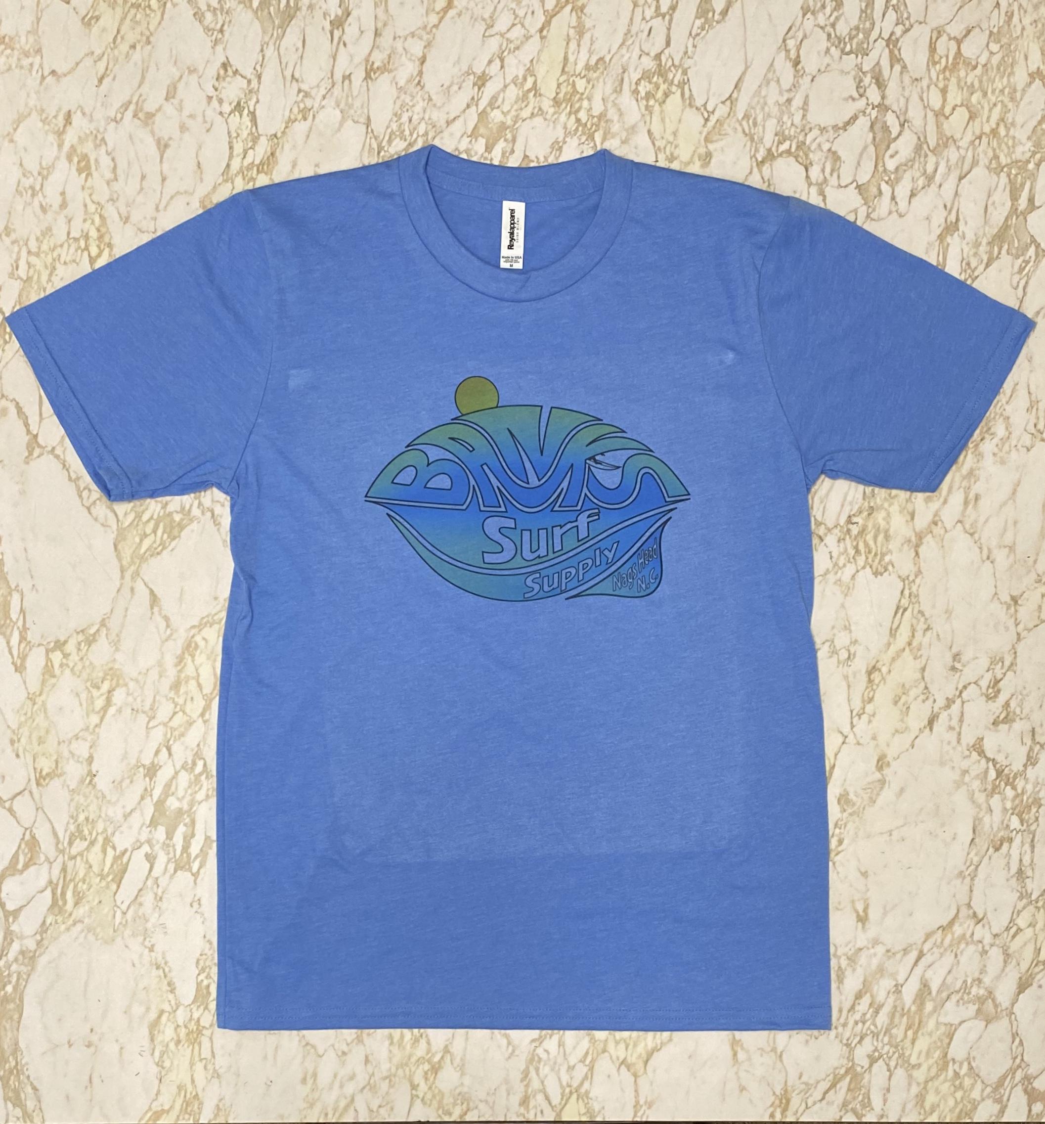 Banks Surf Supply A-Frame Short Sleeve Tee Heather Light Blue