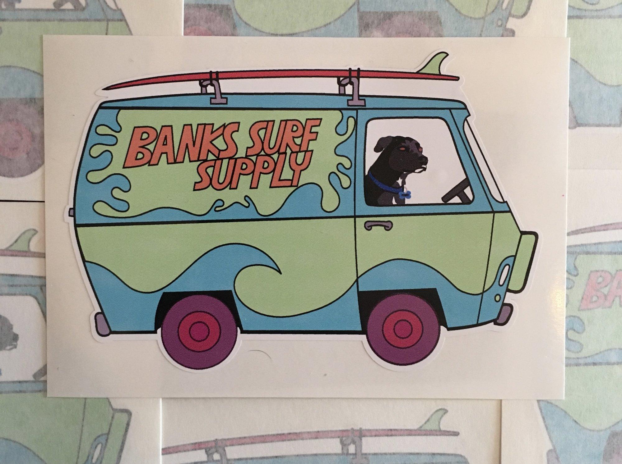 Banks Surf Supply Fred Van 5 Sticker