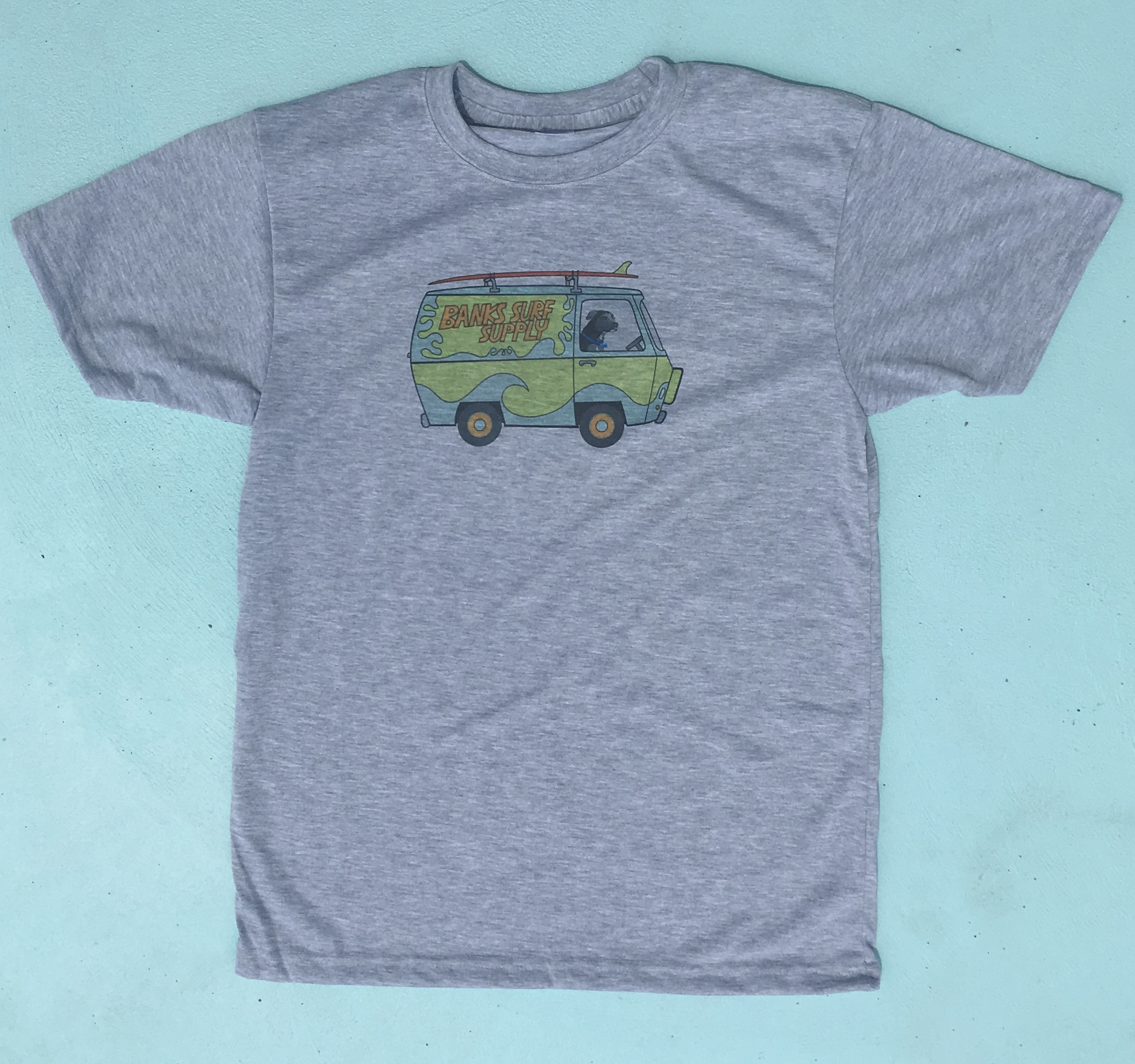Banks Surf Supply Fred Shreds Short Sleeve Tee Ash Heather
