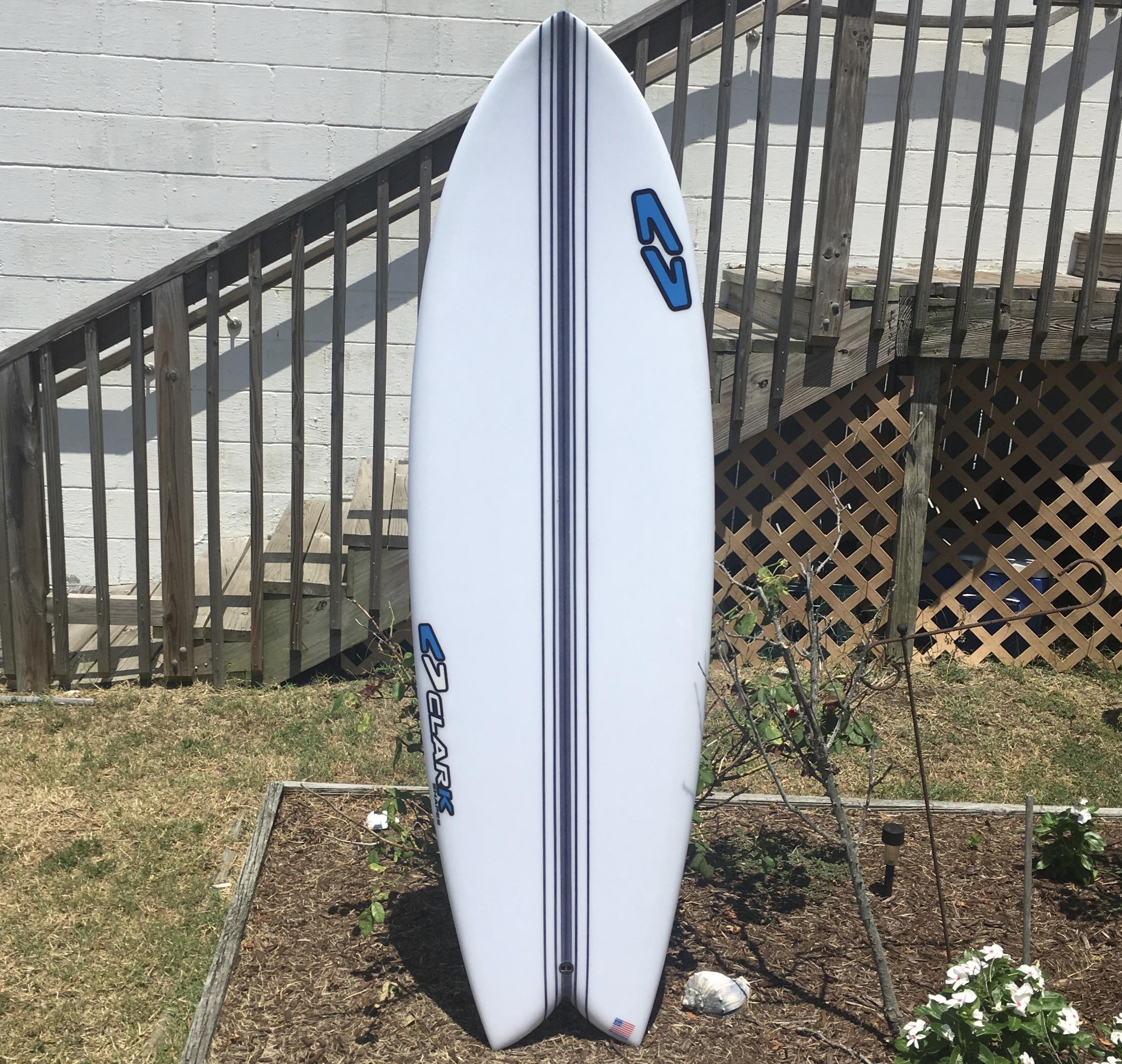 Clark 5'9 Epoxy Quad Fish Surfboard