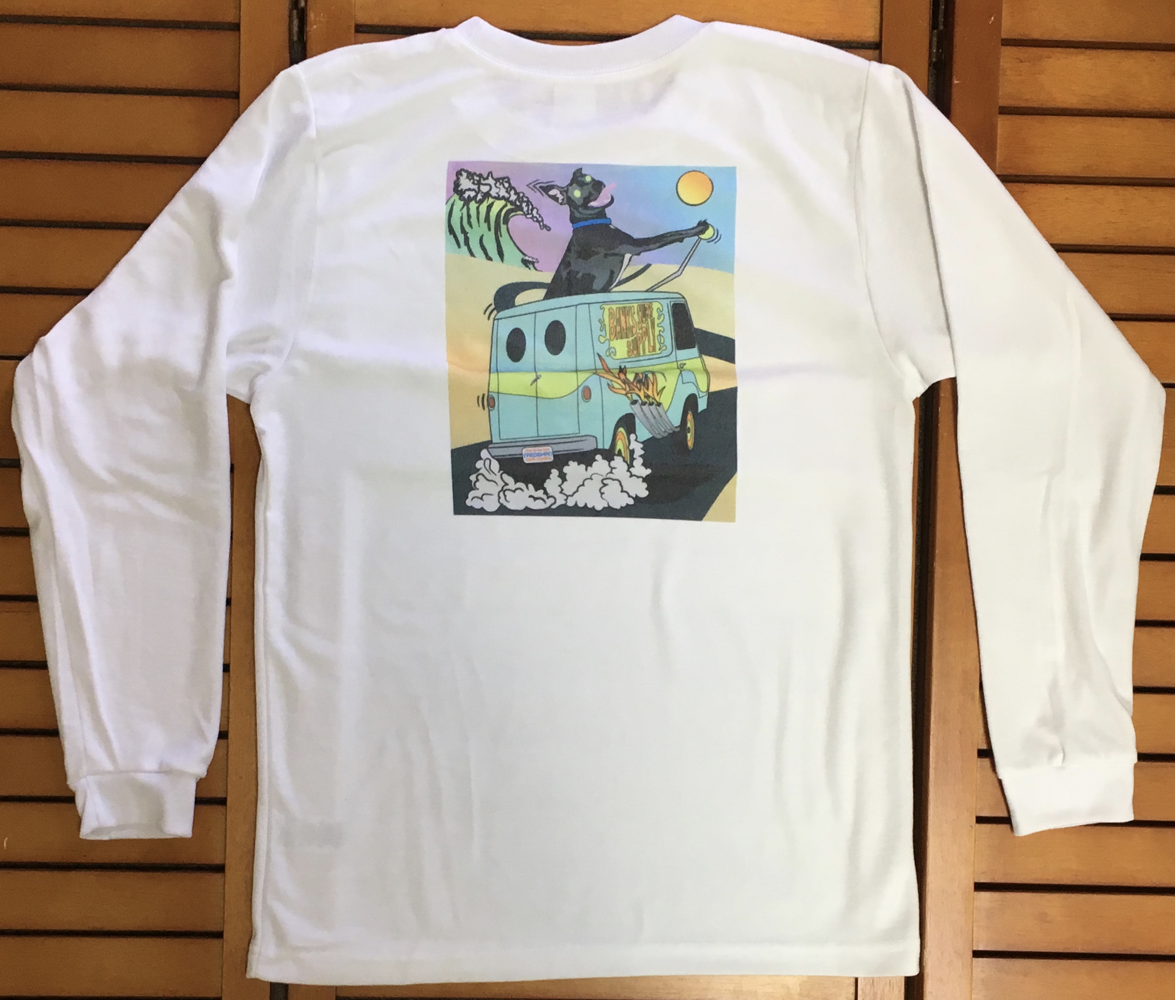 Banks Surf Supply Manager Fred Shreds Long Sleeve Tee White