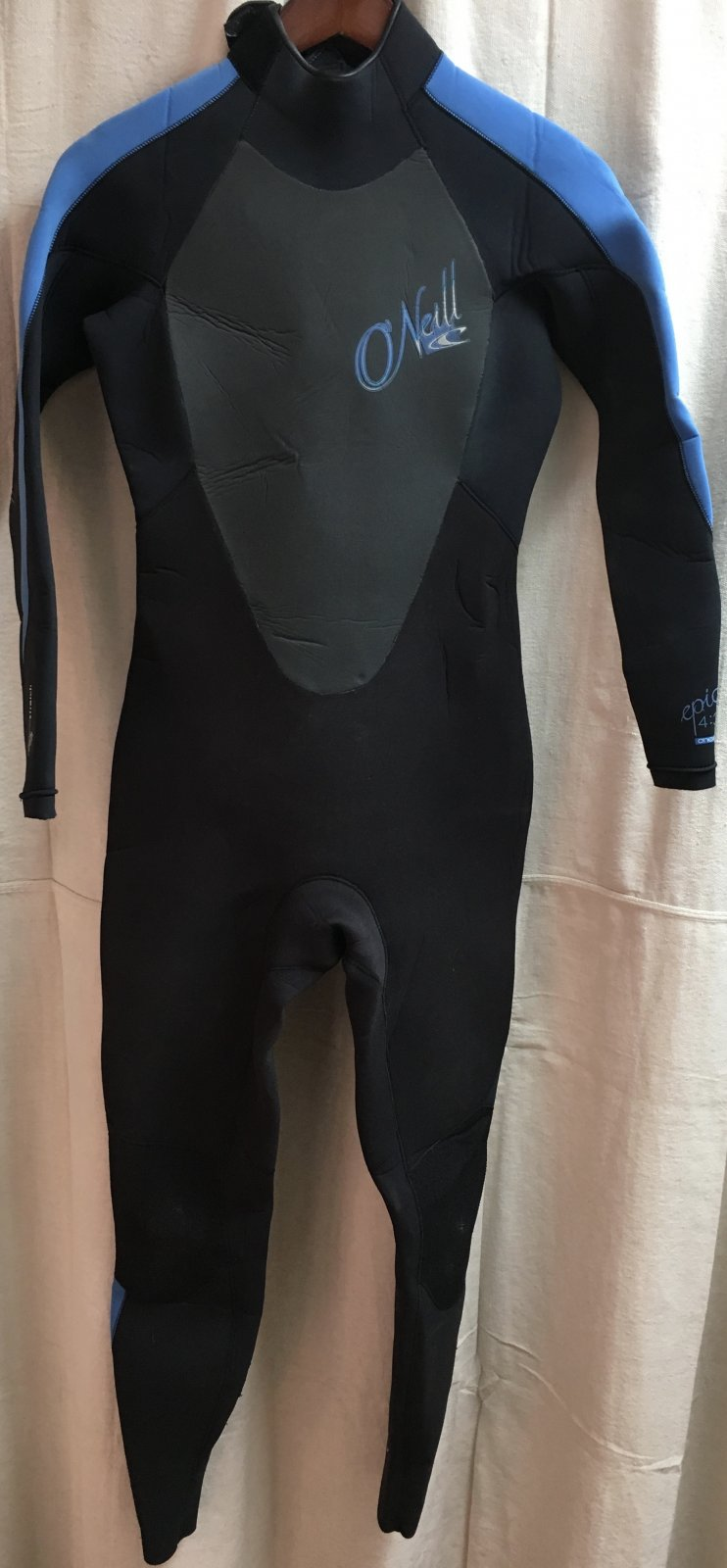 Used O'Neill Ladies Epic 4/3 Back Zip Wetsuit Size 10