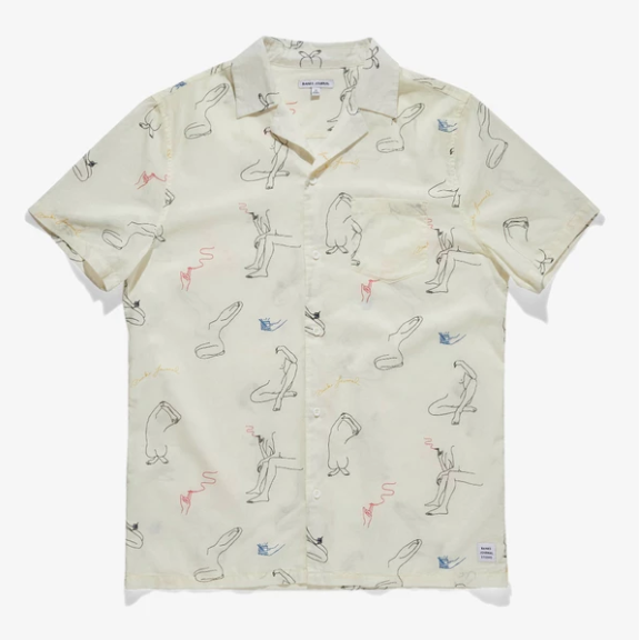 Banks Journal Catherine Rex Short Sleeve Woven Off White