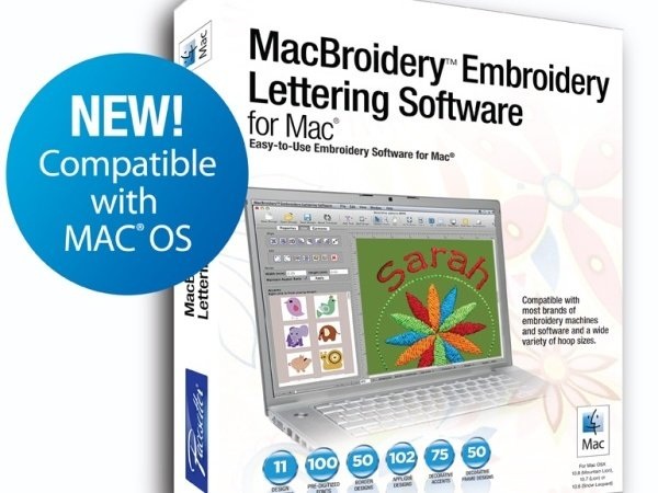 MacBroidery Embroidery Lettering Software