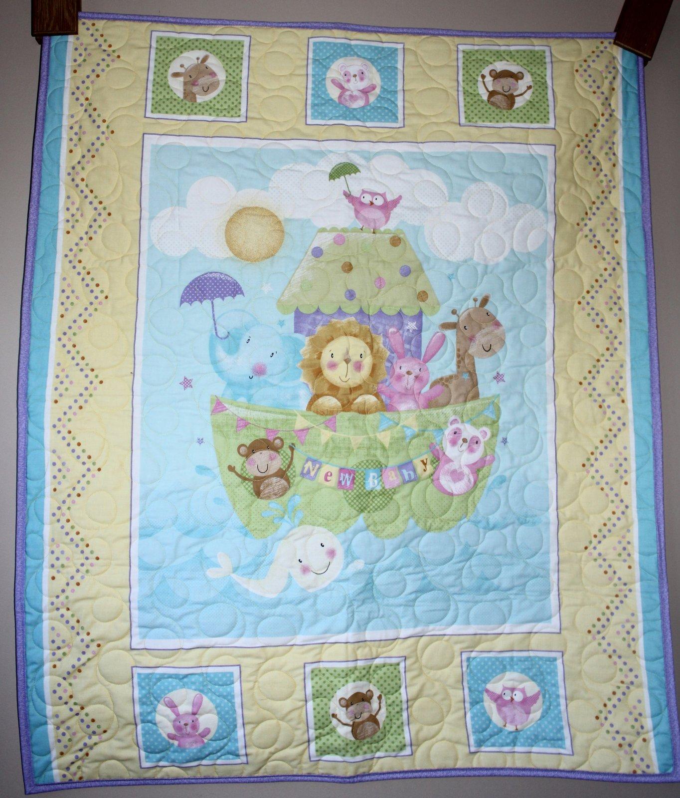 Baby Animal Noah's Ark Quilt Crib/Lap/Wall