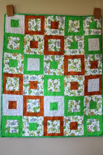 Dinosaur Quilt Baby/Kids/Lap/Wall