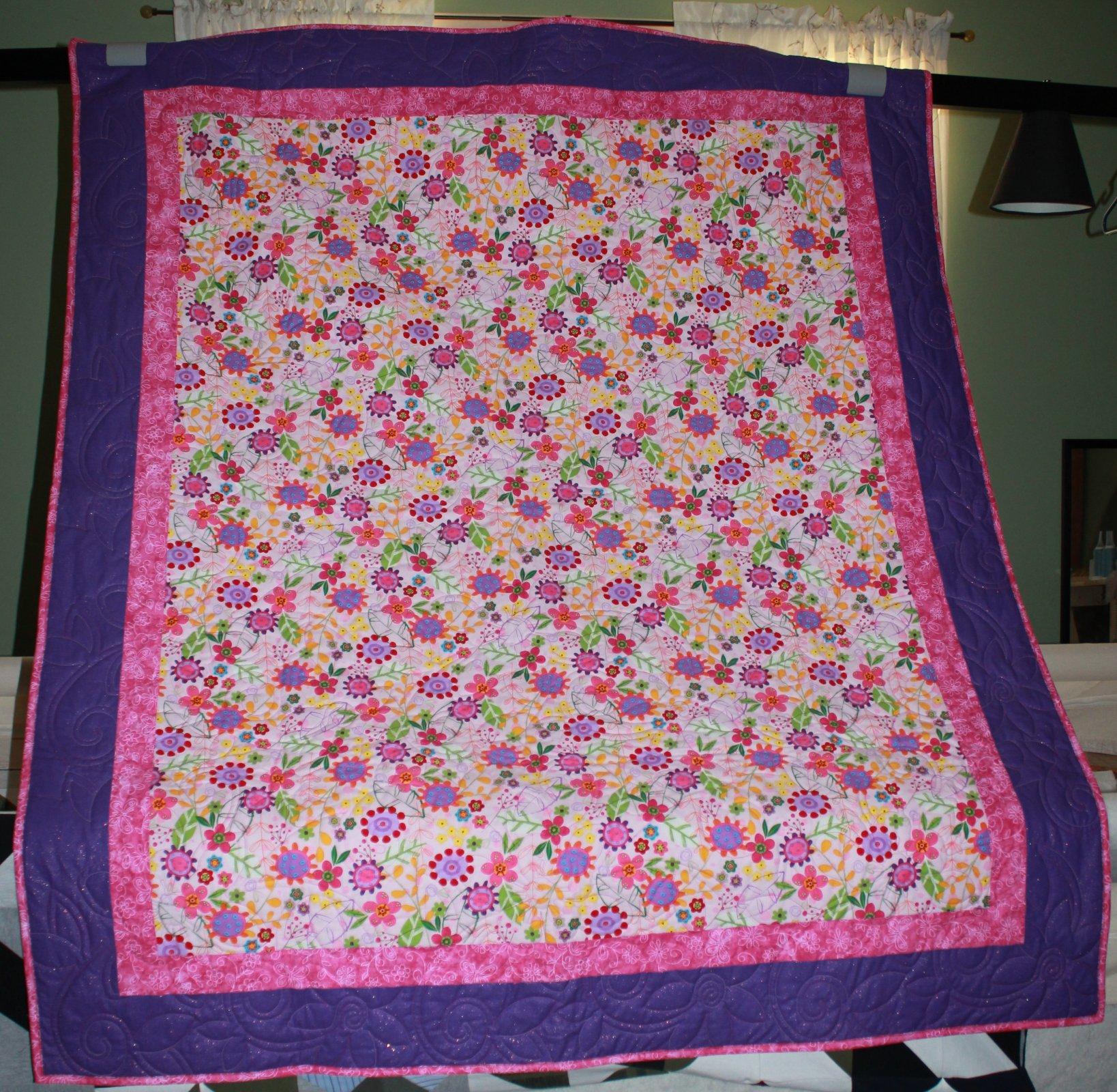 Floral Delight Lap Quilt