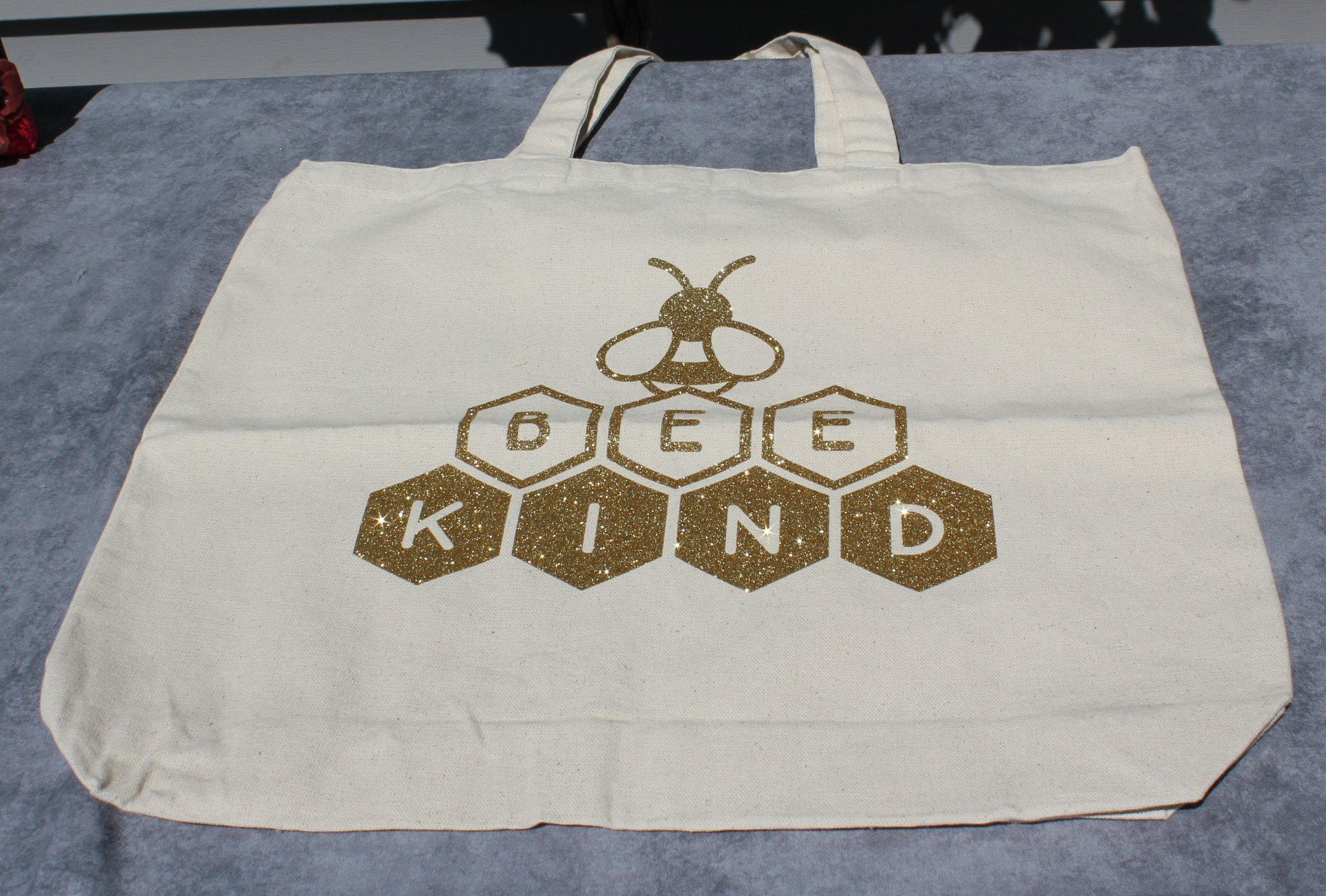 Bee Kind Large Canvas Tote Bag