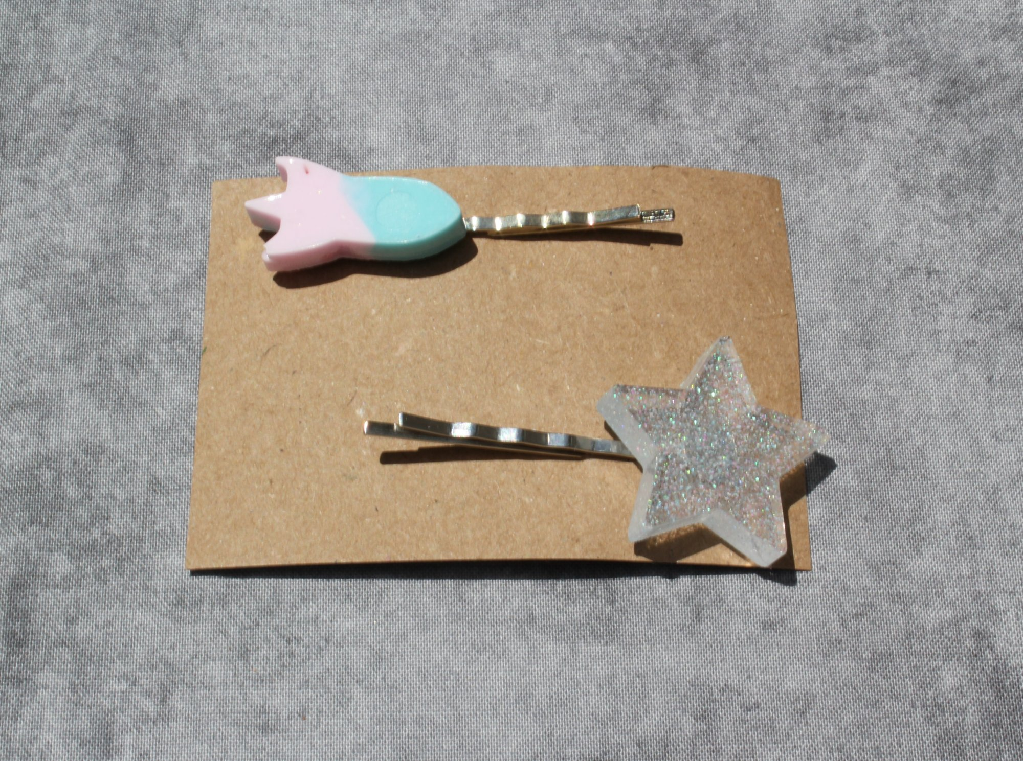 Outer Space Resin Hair Pins