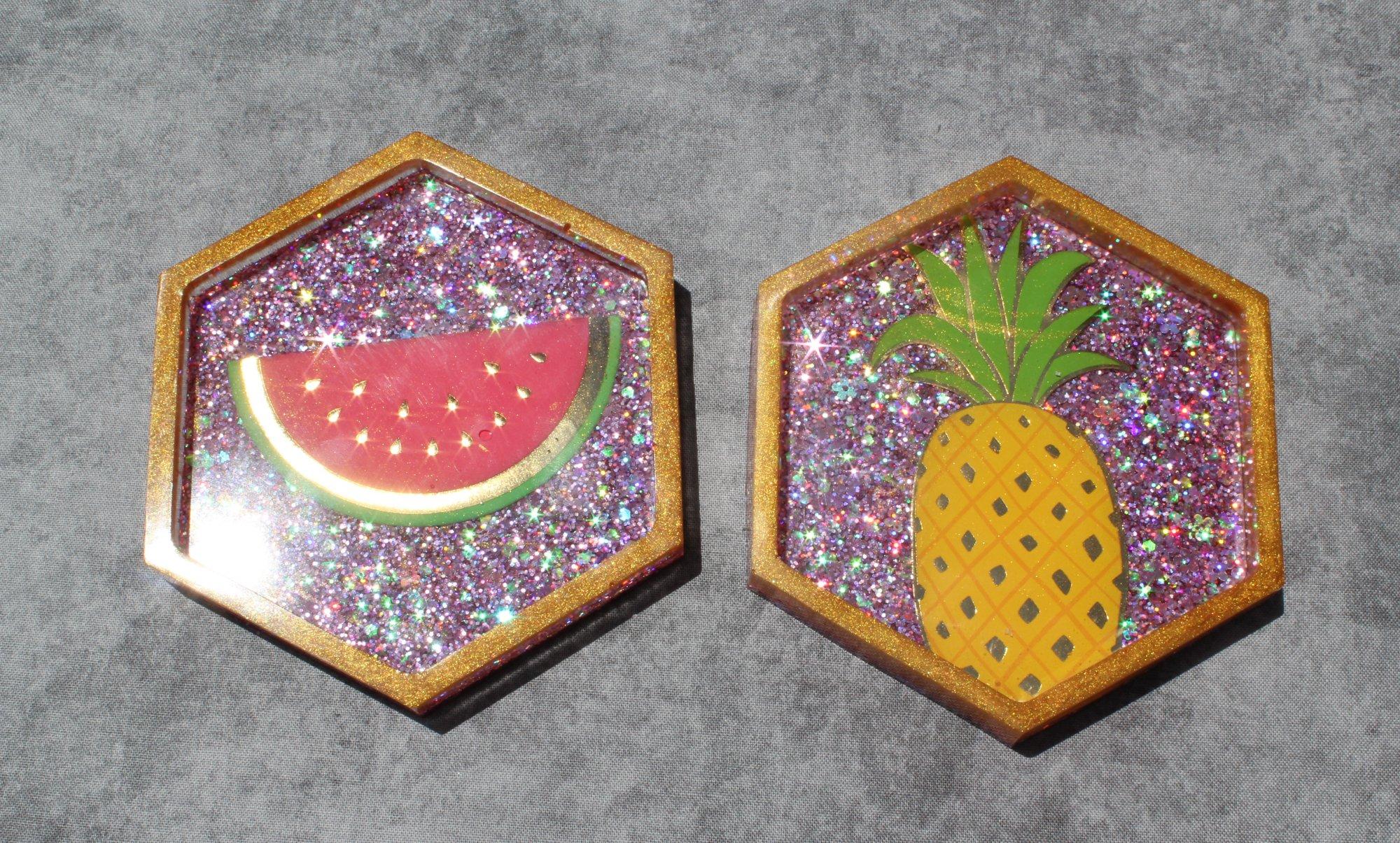 Fruity Coasters Set of 2