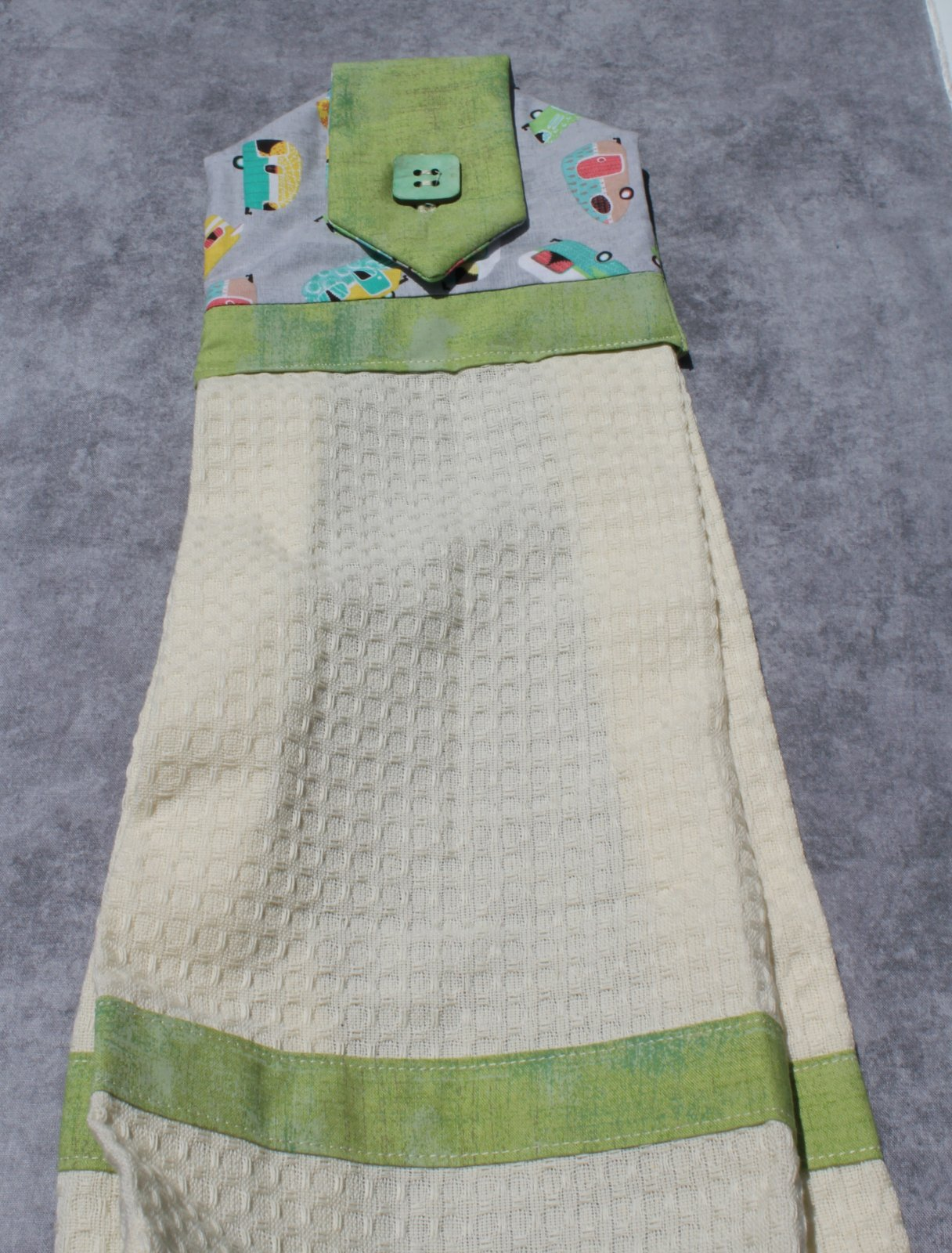 Camper Button Waffle Towel