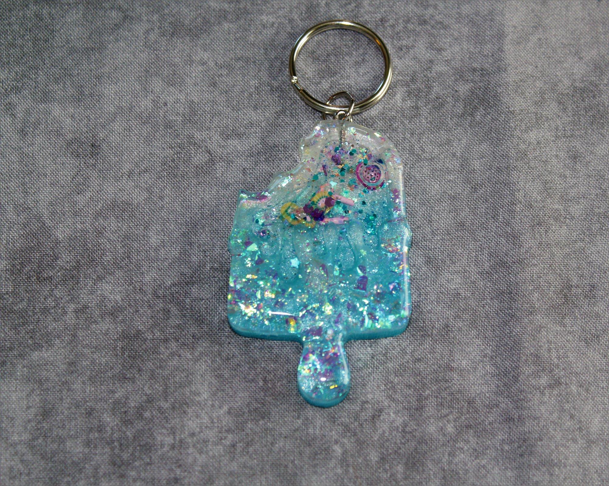Kiwi Popsicle Shaker Keychain