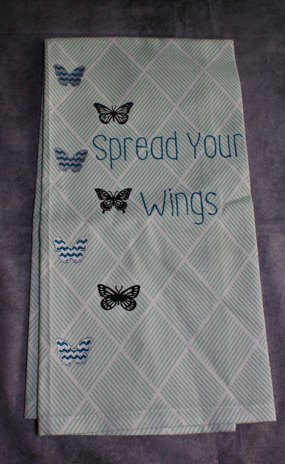 Blue Butterfly Kitchen Towel