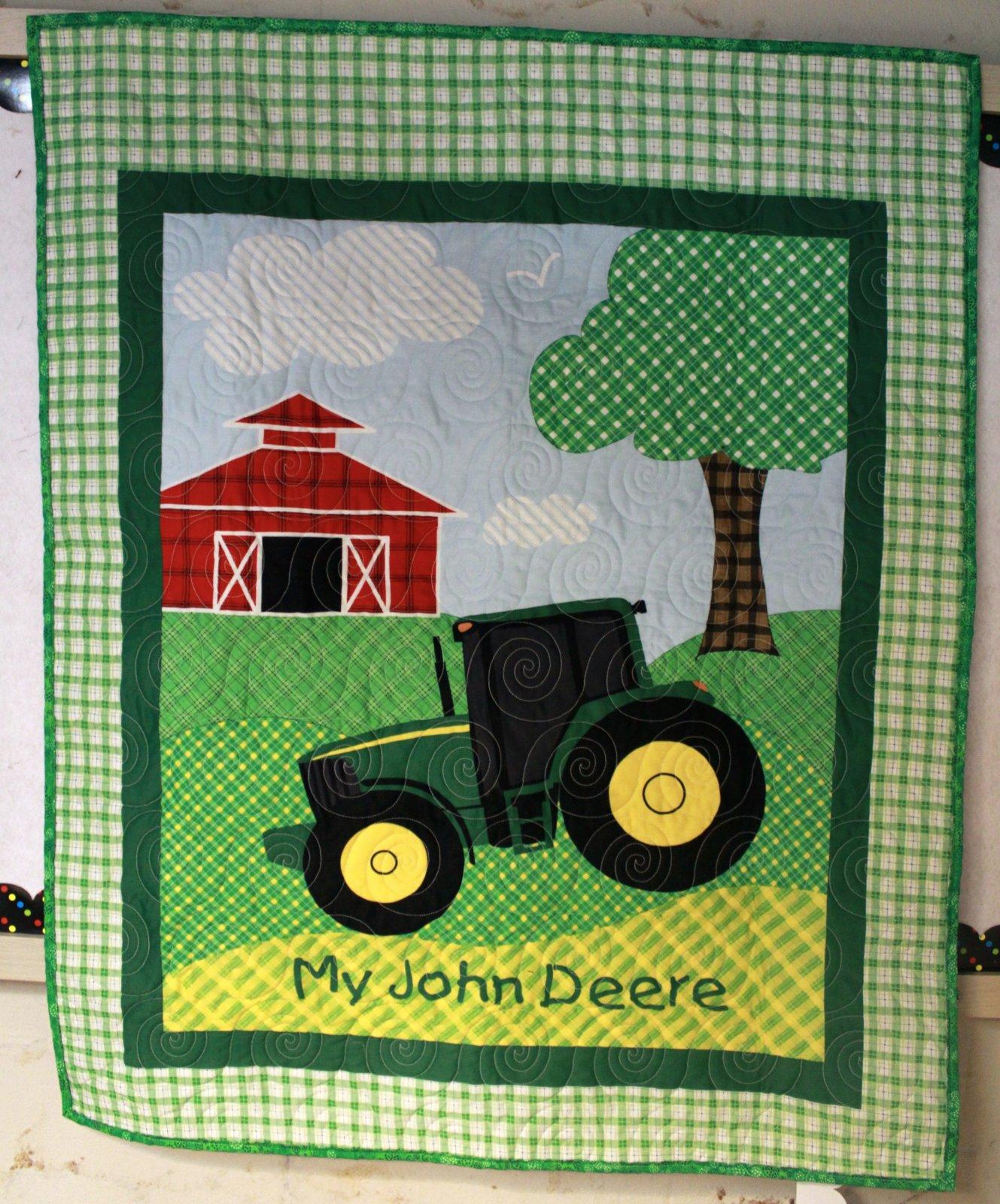 John Deere Tractor Quilt Crib/Lap/Wall : john deere quilts - Adamdwight.com