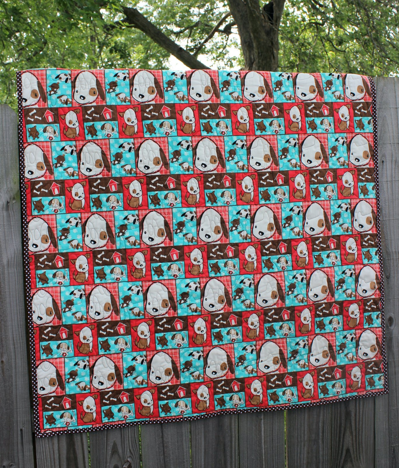 Playful Puppies Quilt Crib/Lap/Wall