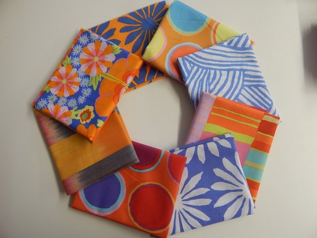 Kaffe Fassett Artisan Blue/Orange 8 pc.
