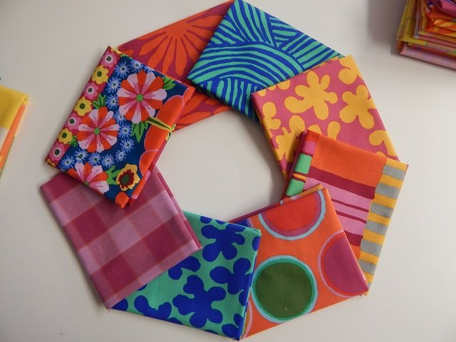 Kaffe Fassett Artisan Blue/Red 8 pc.