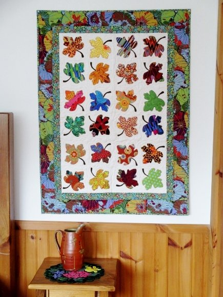 Vt. Maple Leaf Wall Hanging Kit incl. binding