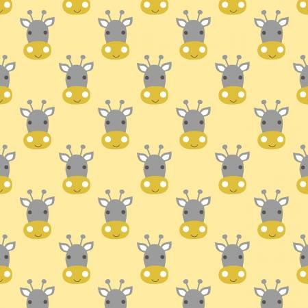 Baby Giraffes Faces Yellow