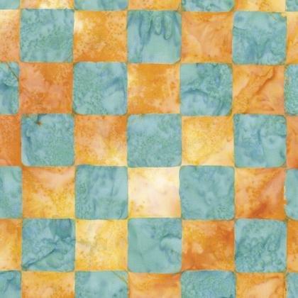 KF - Artisan Chessboard Batik - Yellow