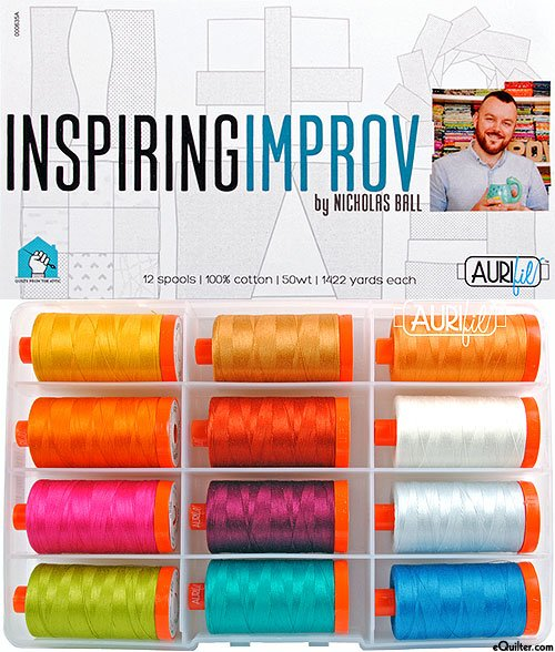 Inspiring Improv Thread Collection 50wt 12 Large Spools