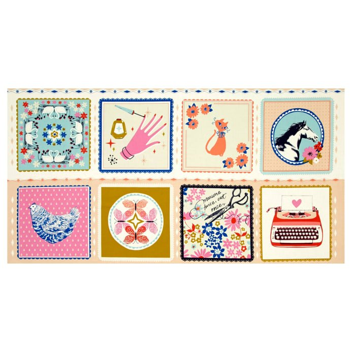 Cotton and Steel Beauty Shop Pre-cut Panel
