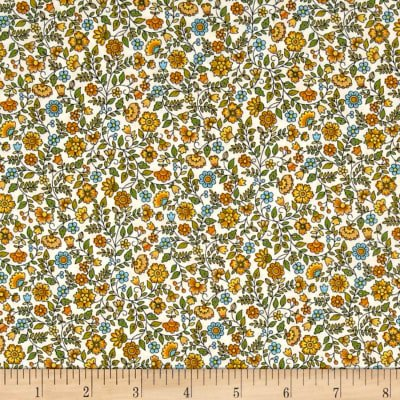 Bloom Floral Scroll Yellow