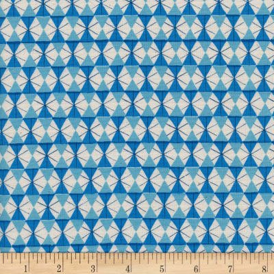 Cotton+Steel Welsummer Chicken Wire Bright Blue