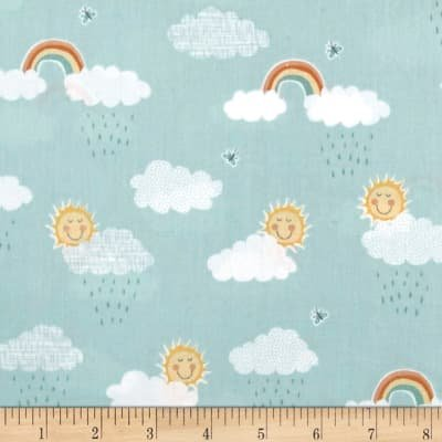 Counting Sheep Clouds -Teal