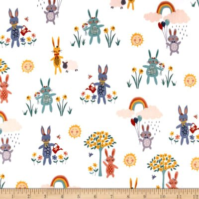 Counting Sheep Bunnies White