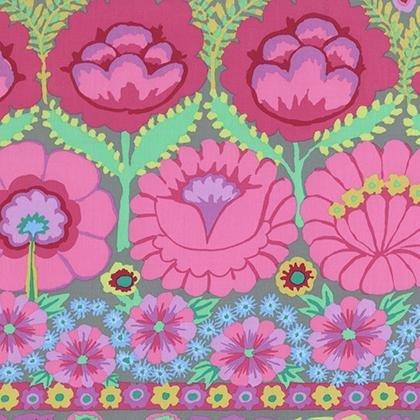 KF-Artisan Embroidered Flower Border Pink
