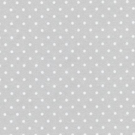 Cozy Cotton Flannel Silver Dots