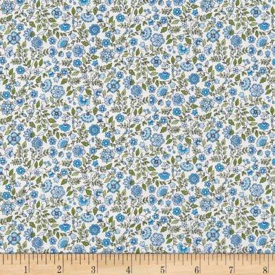 Bloom Floral Scroll Blue