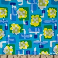 Cotton & Steel Safari Flower Box Blue