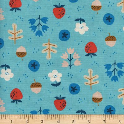 Cotton+Steel Welsummer Forage Bright Blue