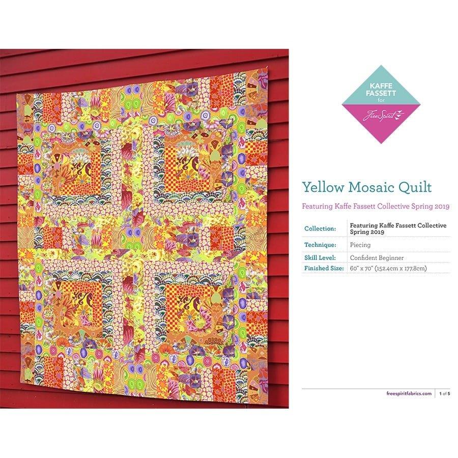 Kaffe Fassett Yellow Mosaic Quilt