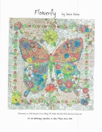 Laura Heine Flowerfly A Butterfly Collage Pattern