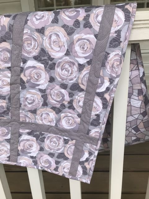Nice and Easy Table Runner- Gray Rose