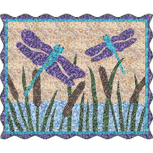 Dragonfly Mosaic Masterpiece Mini Quilt