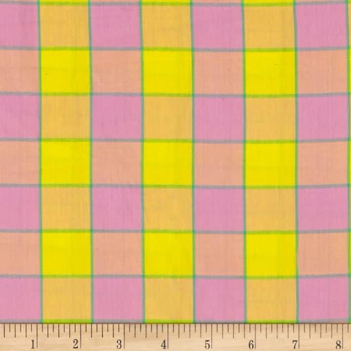 KF-Artisan Checkerboard Plaid Ikat Pink