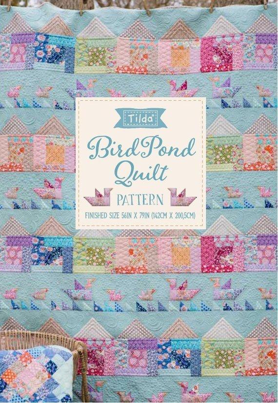 Tilda Bird Pond Kit includes binding