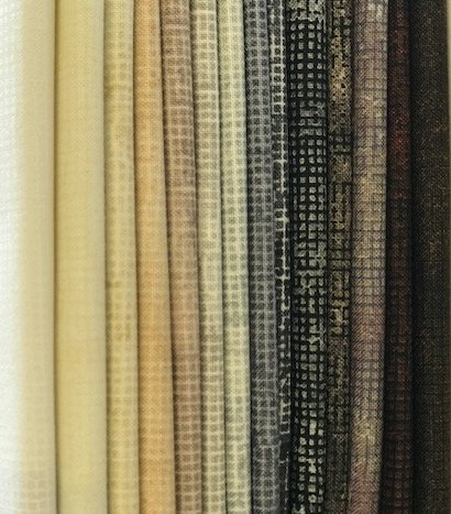 Chalk and Charcoal Neutrals (15) fat quarters