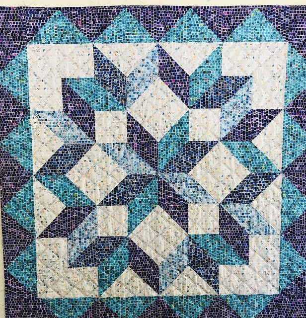 Stella Mosaic Quilt Kit 48 x48