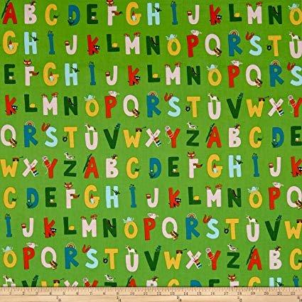Kinder by Heather Ross Green Alphabet