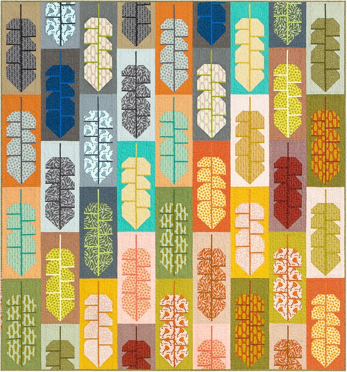 Colorful Leafy Quilt Kit
