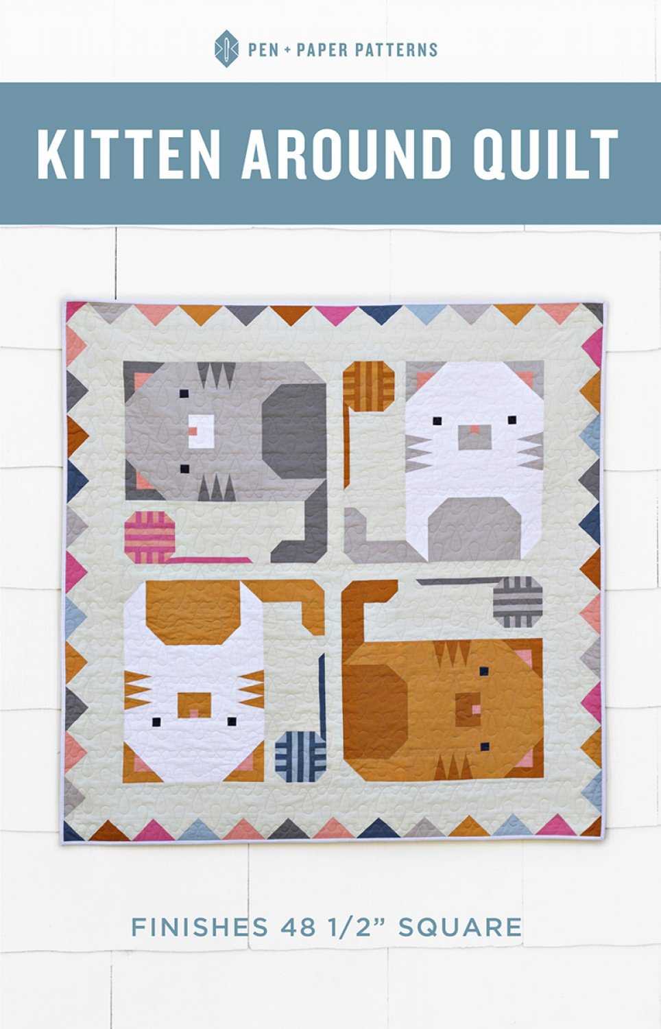 Kitten Around Quilt by Pen and Paper