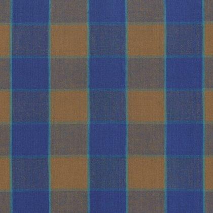 KF-Artisan Checkerboard Plaid Ikat Blue