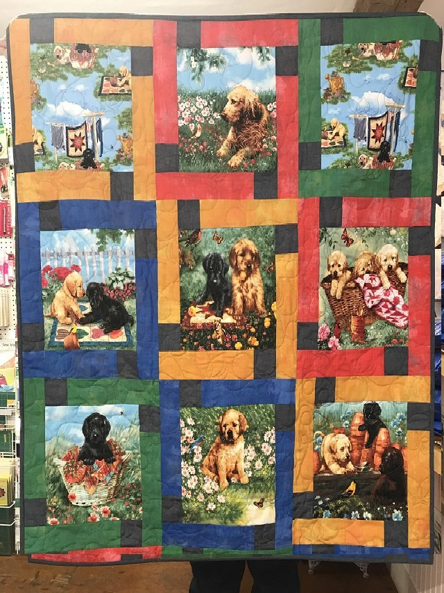 Pups in The Garden Quilt Kit