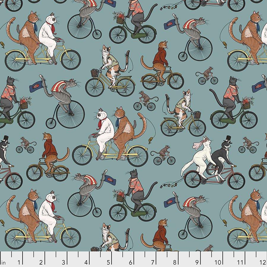 Cat Tales Bicycle Race Aqua