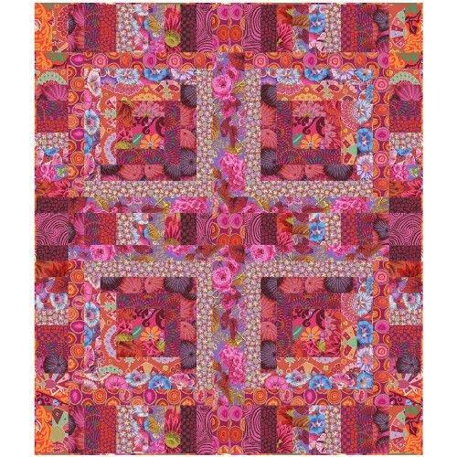 Kaffe Fassett Red Mosaic Quilt Kit